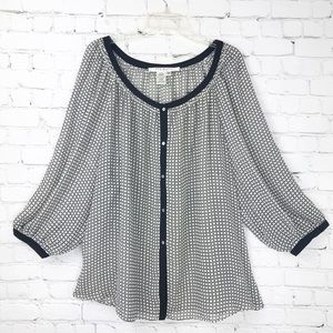 Max Studio Sheer Blouse